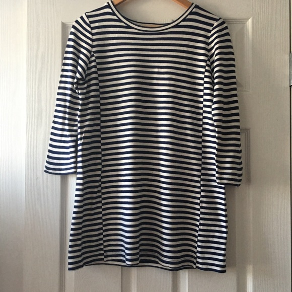 J. Crew Blue Stripe T-Shirt Dress